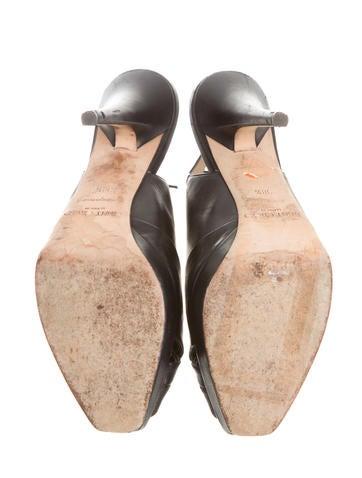 Peep-Toe Slingback Pumps