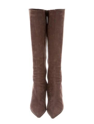 Embellished Suede Boots