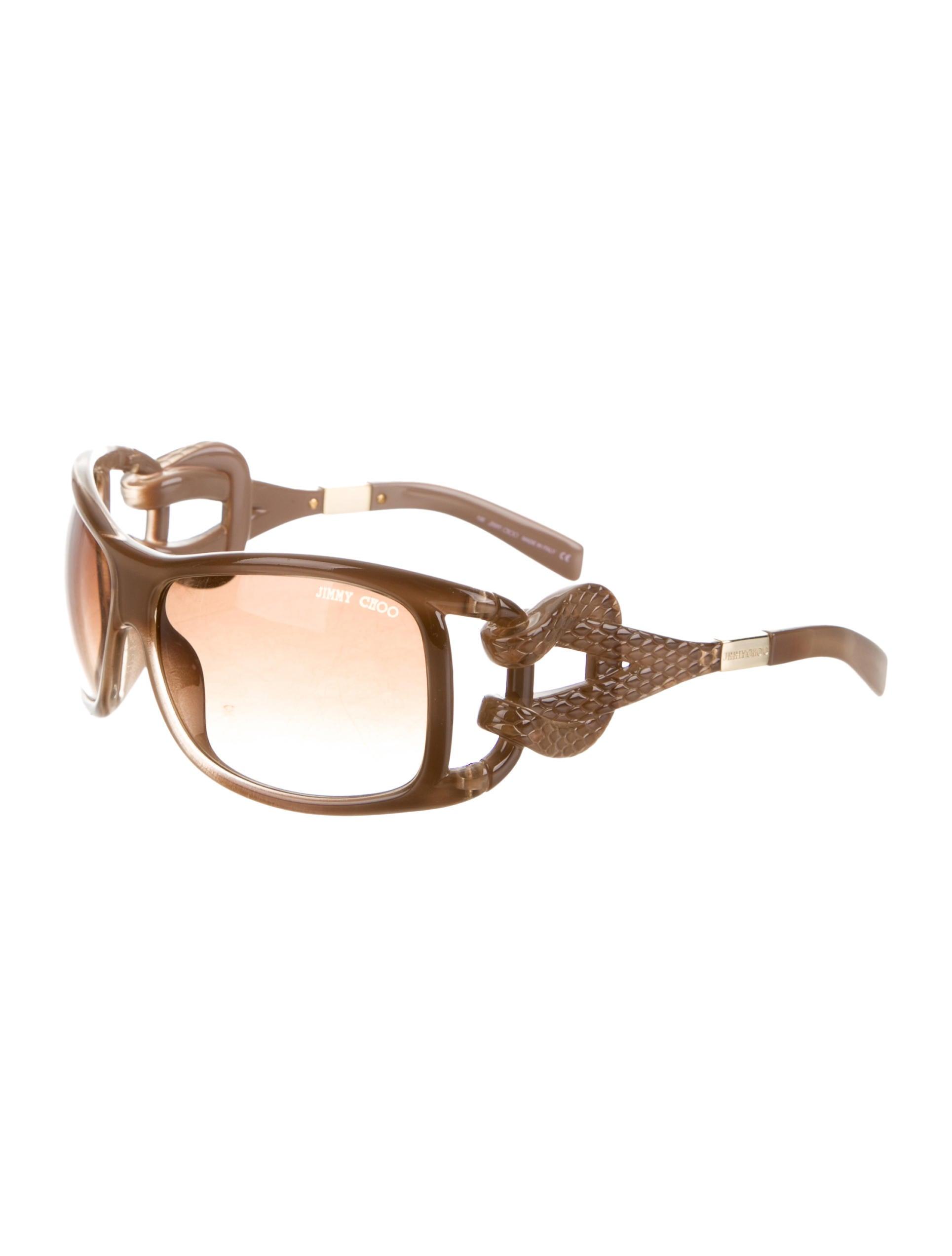Jimmy Choo Taupe Oversize Sunglasses