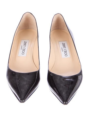 Pointed-Toe Patent Leather Pumps