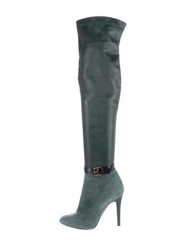 Over-The-Knee Buckle Boots