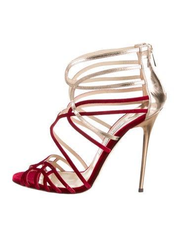 Velvet Cage Sandals