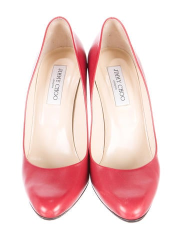 Leather Semi-Pointed Toe Pumps