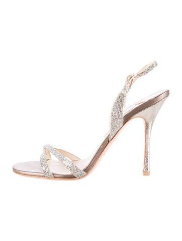 Glitter Evening Sandals