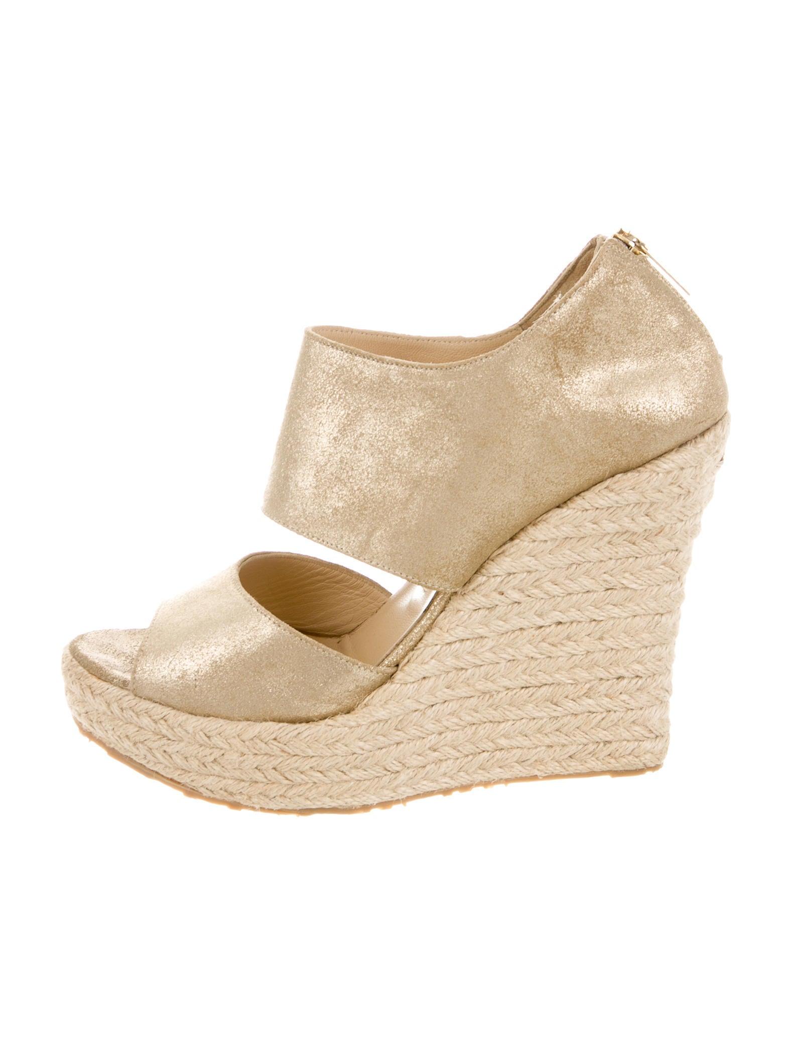 jimmy choo metallic wedge sandals shoes jim49624 the