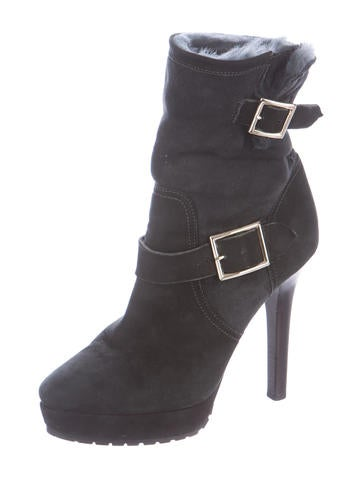 jimmy choo fur lined suede ankle boots shoes jim49770