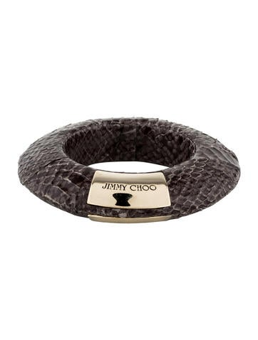Jimmy choo skyla snakeskin bangle bracelets jim49877 for Jimmy s fine jewelry