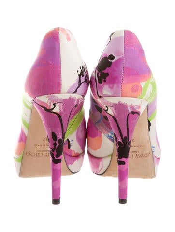 Floral Peep-Toe Pumps