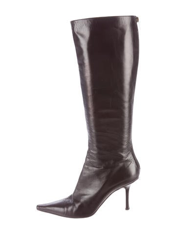 Jimmy Choo Leather Pointed-Toe Boots None
