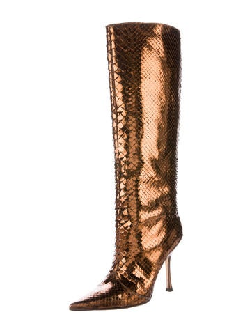 jimmy choo snakeskin knee high boots shoes jim51198