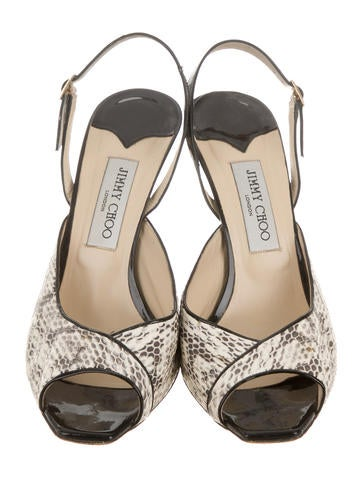 Slingback Peep-Toe Pumps