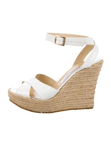 Patent Leather Wedge Sandals