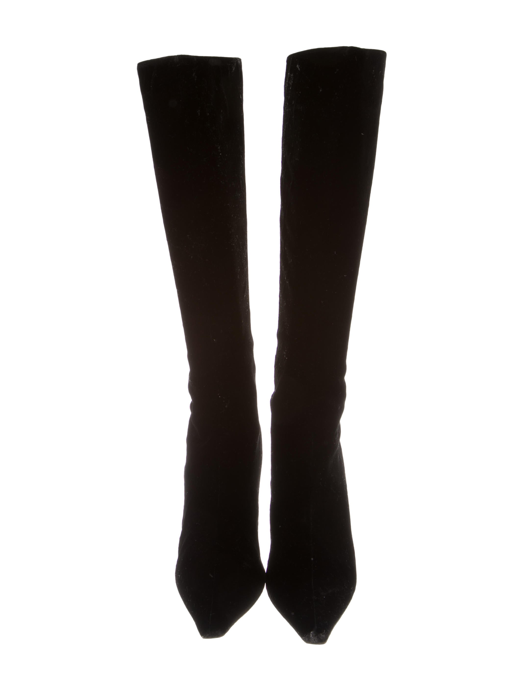 jimmy choo velvet knee high boots shoes jim51731 the