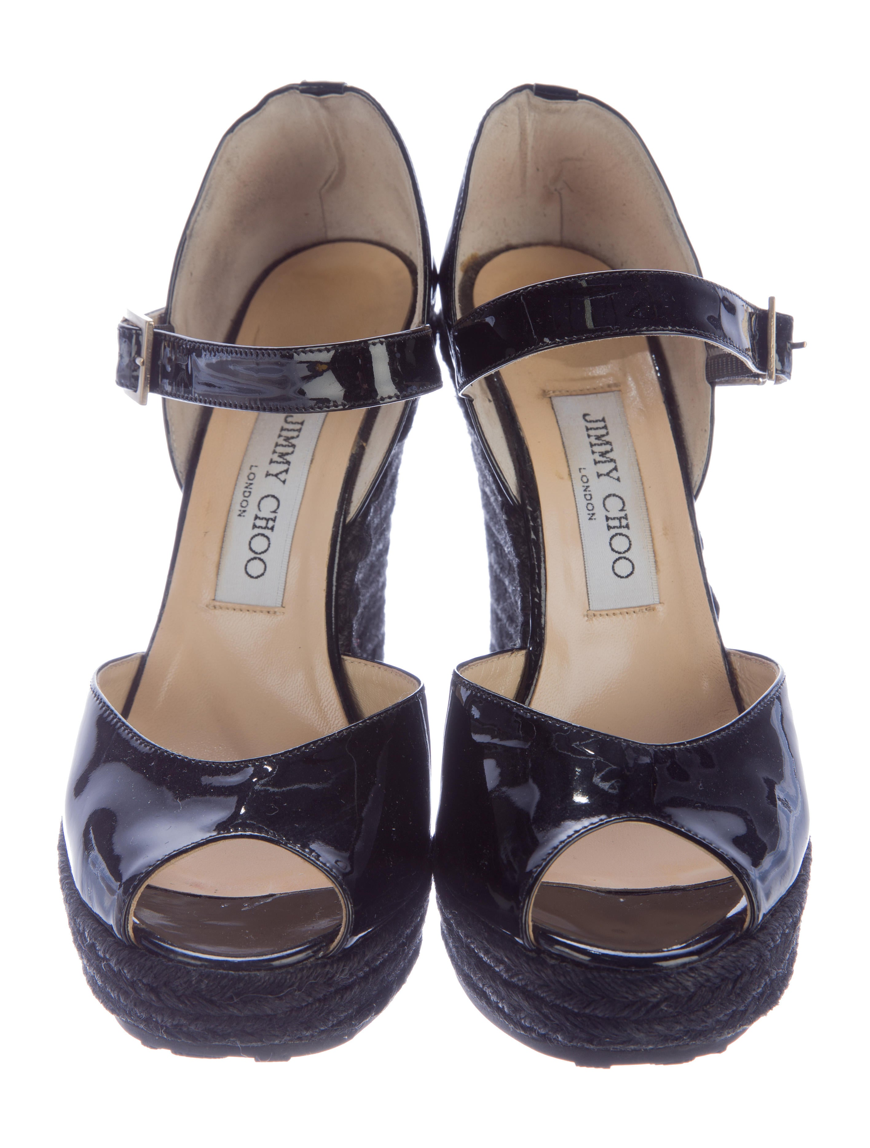 jimmy choo patent leather wedge sandals shoes jim51862