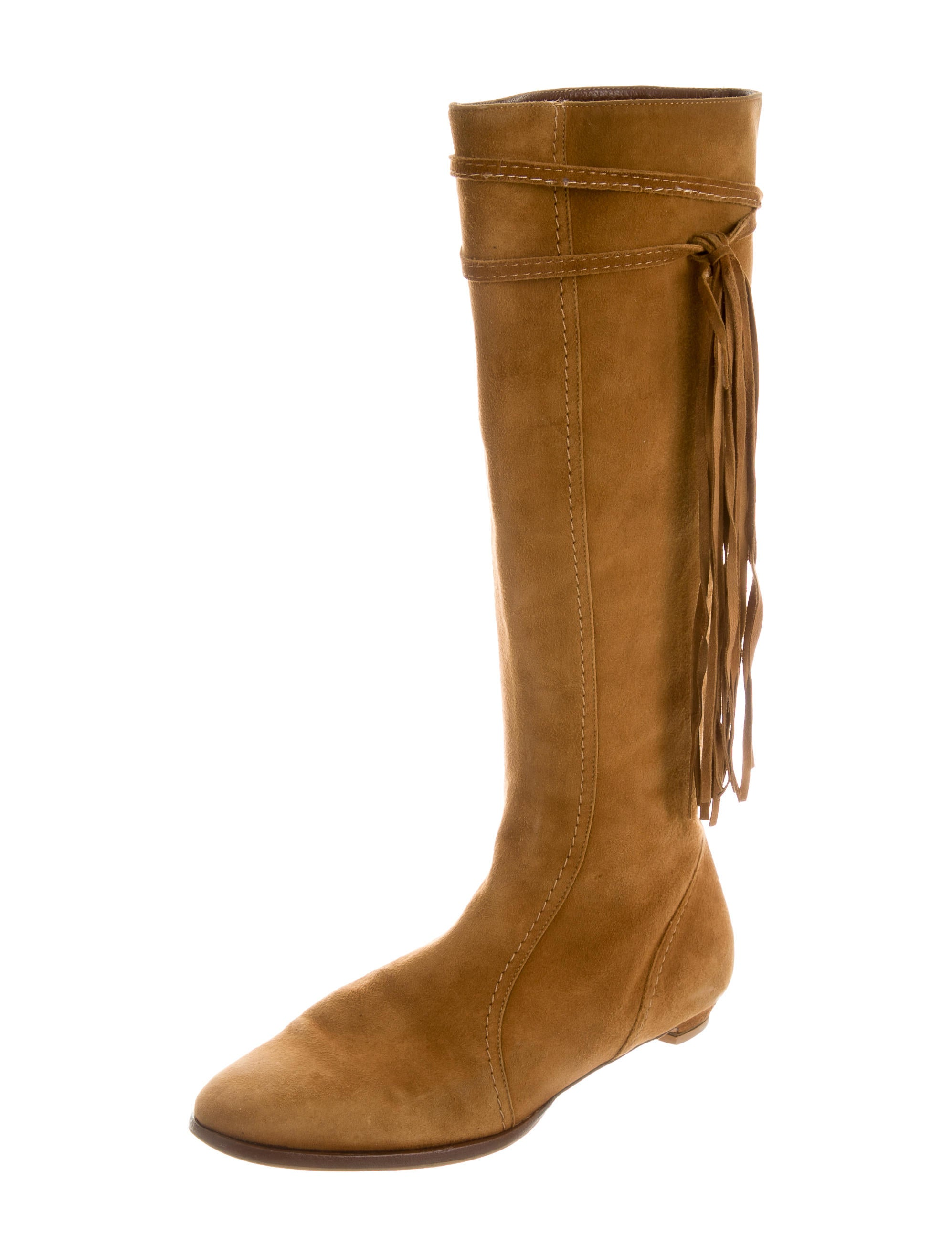 jimmy choo suede fringe boots shoes jim52168 the