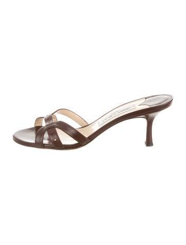 Jimmy Choo Leather Slide Sandals