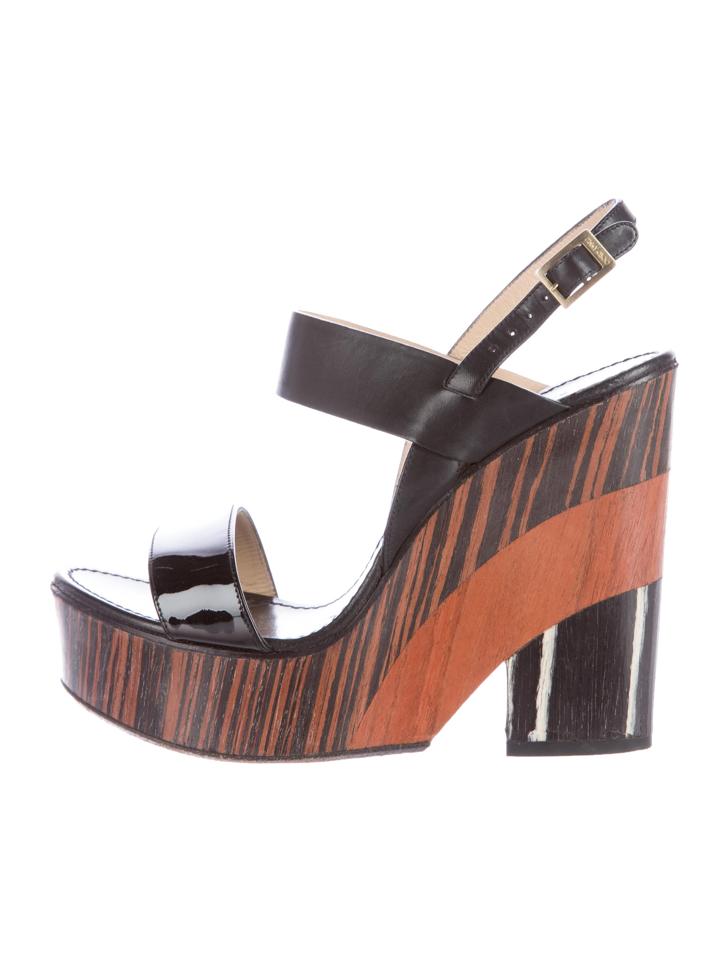 jimmy choo notion wooden wedges shoes jim52659 the