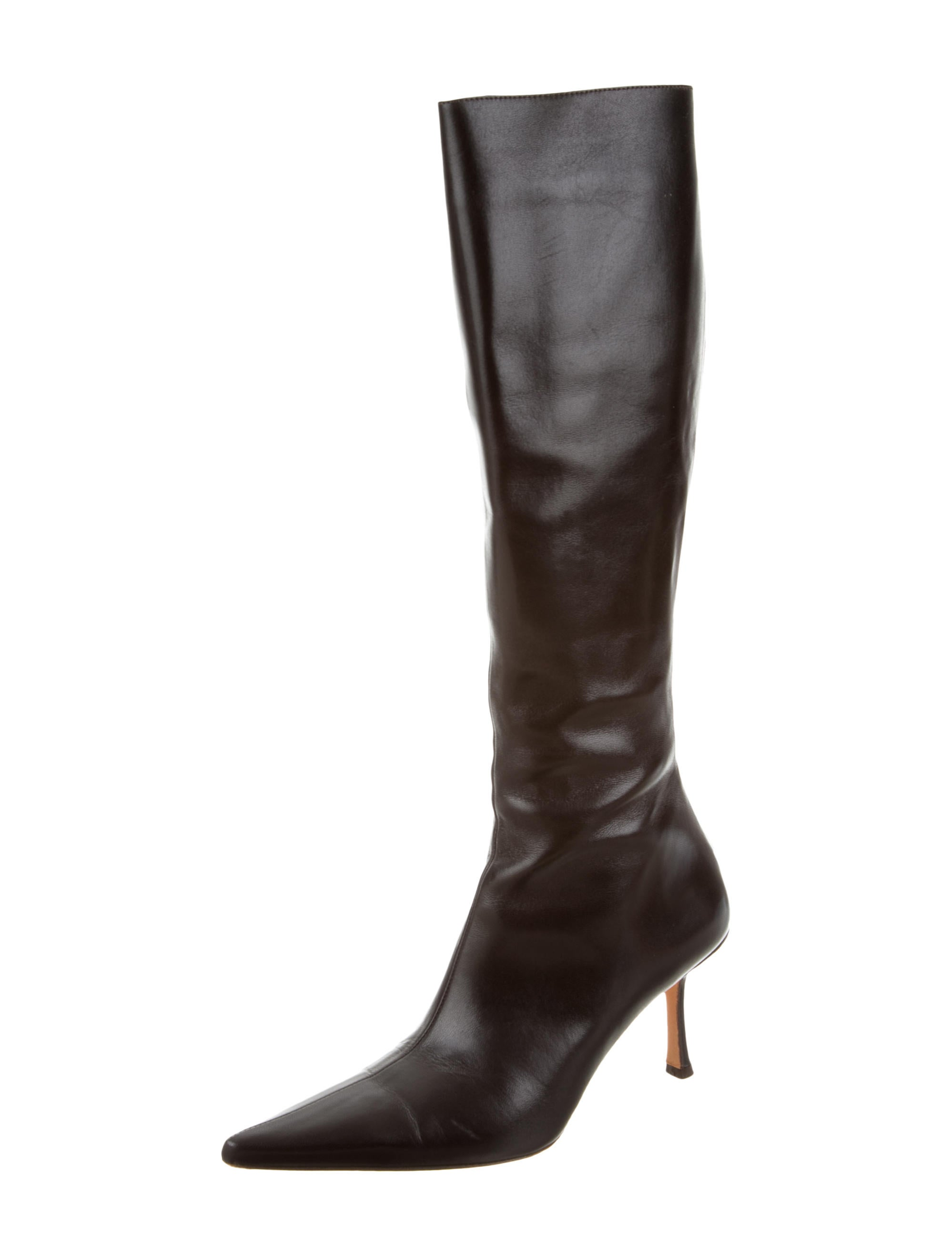 jimmy choo pointed toe knee high boots shoes jim52984
