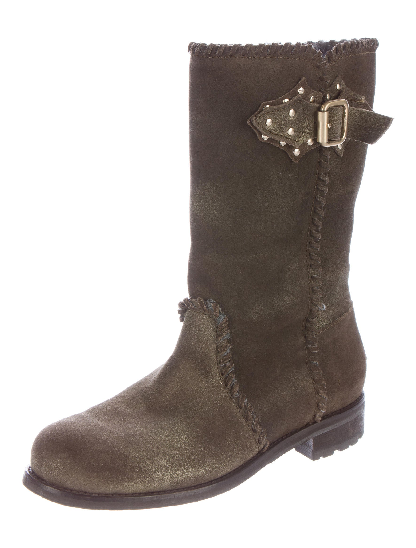 jimmy choo suede mid calf boots shoes jim53880 the
