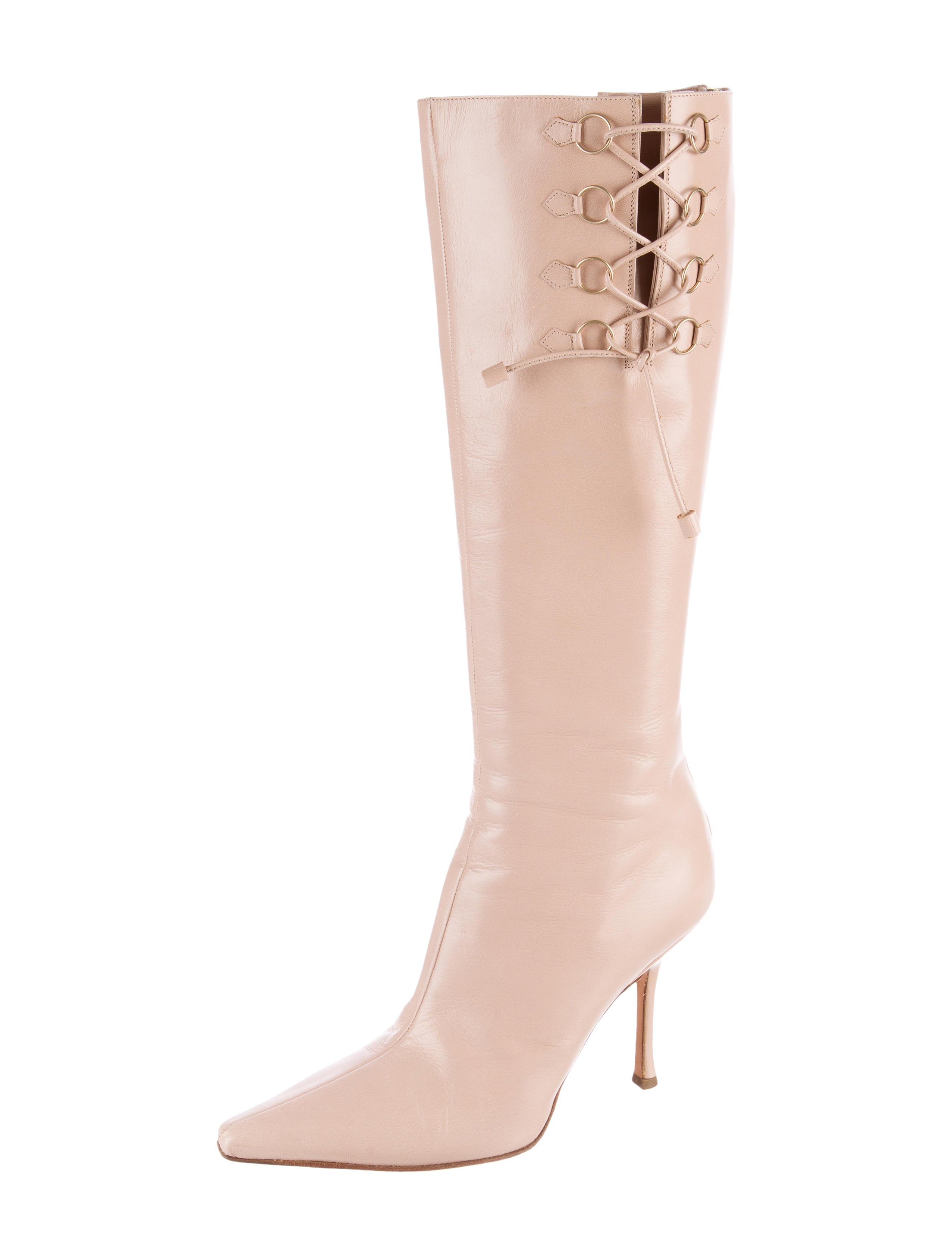 jimmy choo pointed toe knee high boots shoes jim54398