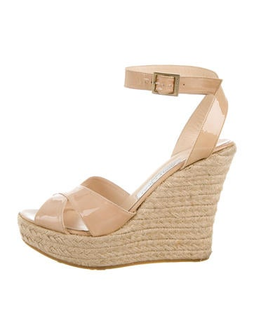 Patent Leather Espadrille Wedges