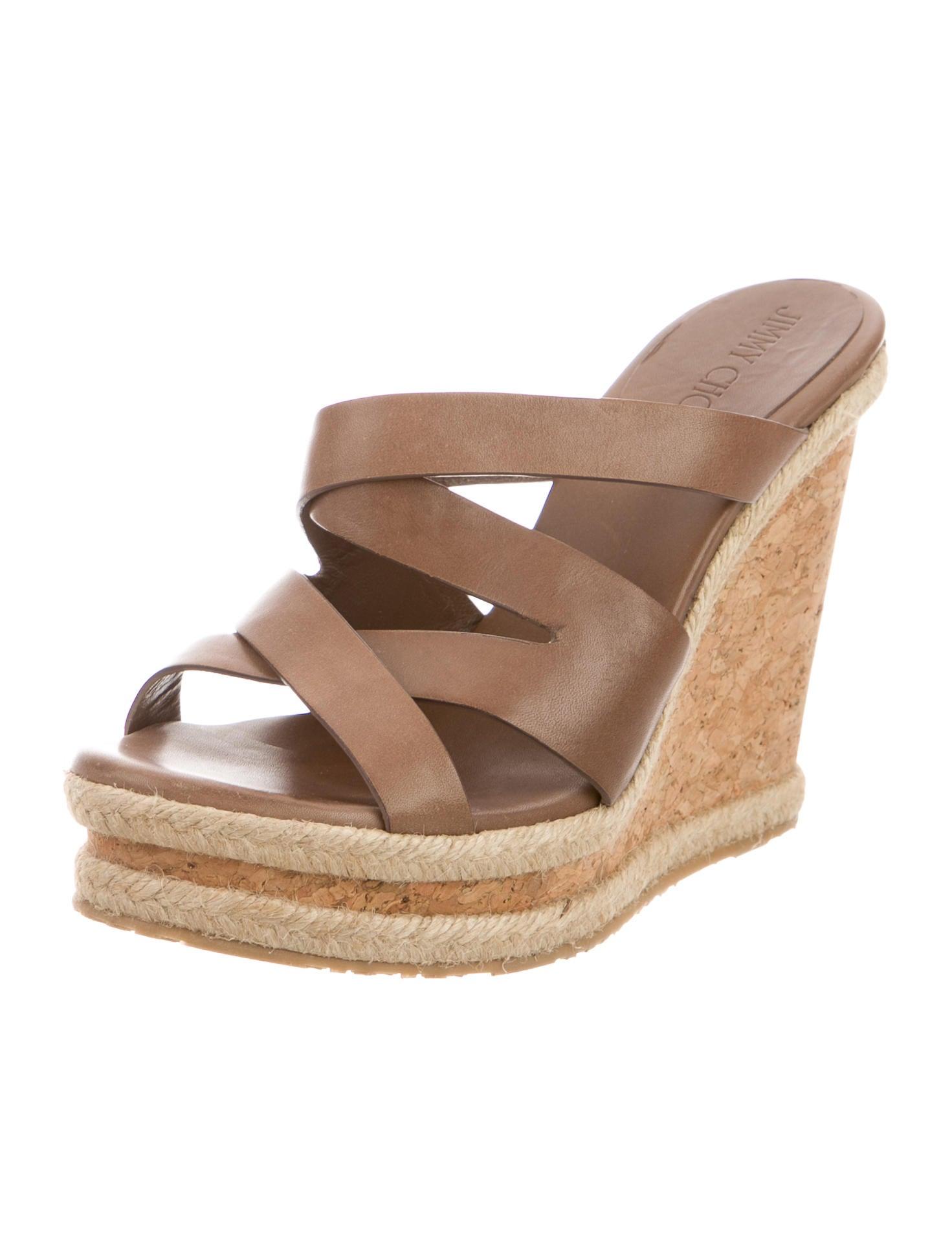 jimmy choo leather platform wedges shoes jim54624