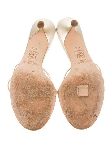 Metallic Slide Sandals