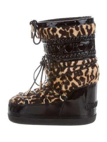 Jimmy Choo Leopard Print Mood Boots