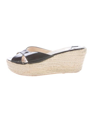 Jimmy Choo Patent Espadrille Sandals None