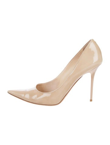 Jimmy Choo Patent Pointed-Toe Pumps