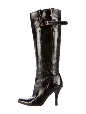 Jimmy Choo Patent Leather Knee-High Boots