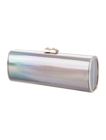 Charm Holographic Leather Clutch