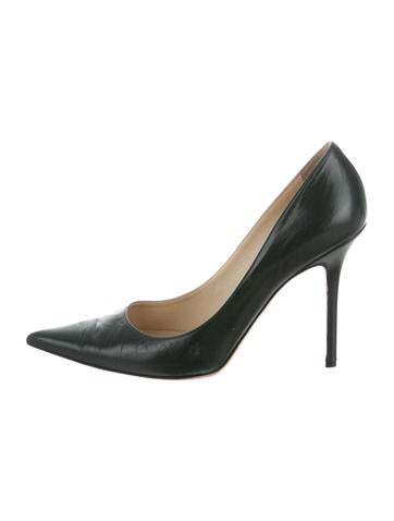 Jimmy Choo Leather Pointed-Toe Pumps None