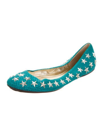 Suede Star Flats
