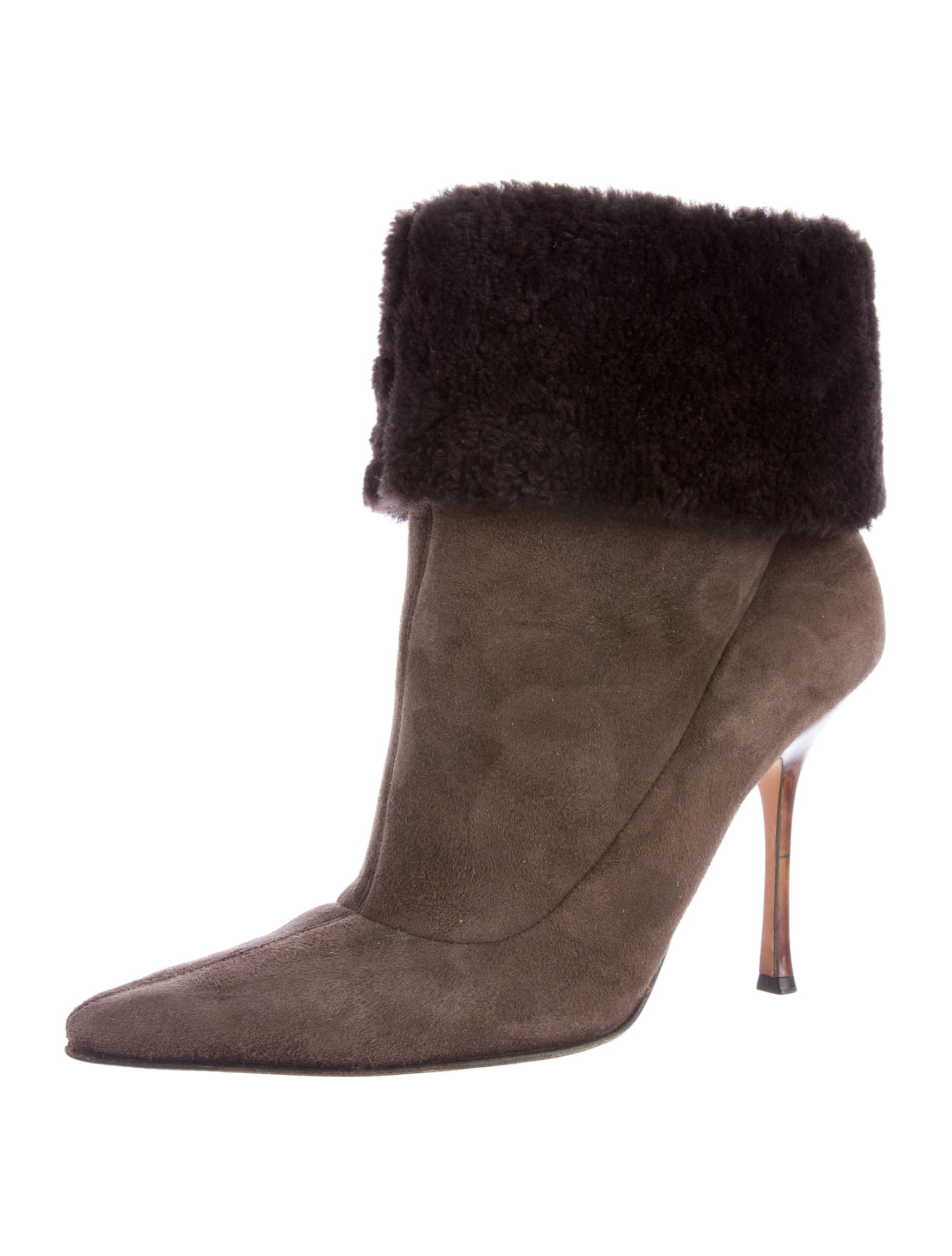 Jimmy Choo Shearling Pointed-Toe Ankle Boots looking for cheap online cheap price from china cheap sale best wholesale buy cheap with credit card sBZNtOQ