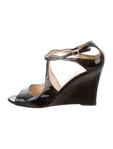 Jimmy Choo Multistrap Wedge Sandals None