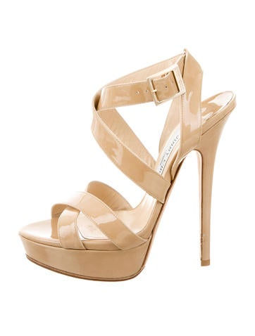Jimmy Choo Patent Leather Platform Sandals None