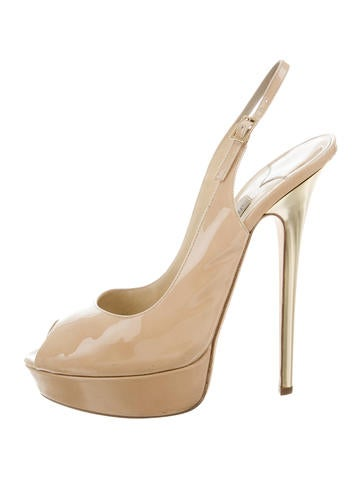 Jimmy Choo Slingback Platform Pumps None
