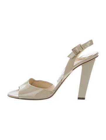 Jimmy Choo Patent Slingback Sandals None