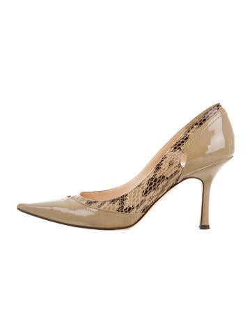 Jimmy Choo Python-Trimmed Pumps None