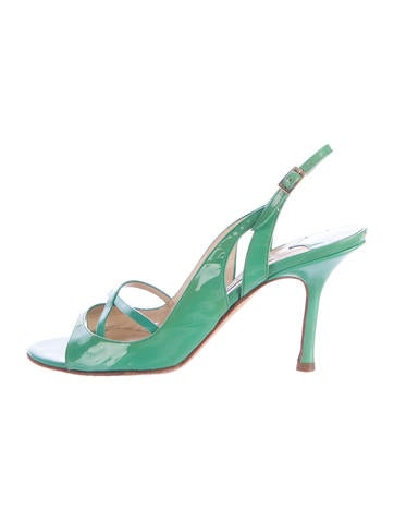 Jimmy Choo Patent Leather Slingback Sandals None