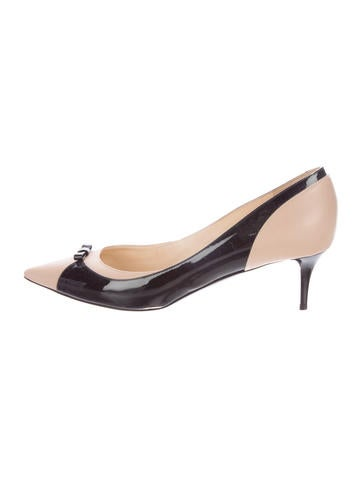 Jimmy Choo Patent Leather Pointed-Toe Pumps None