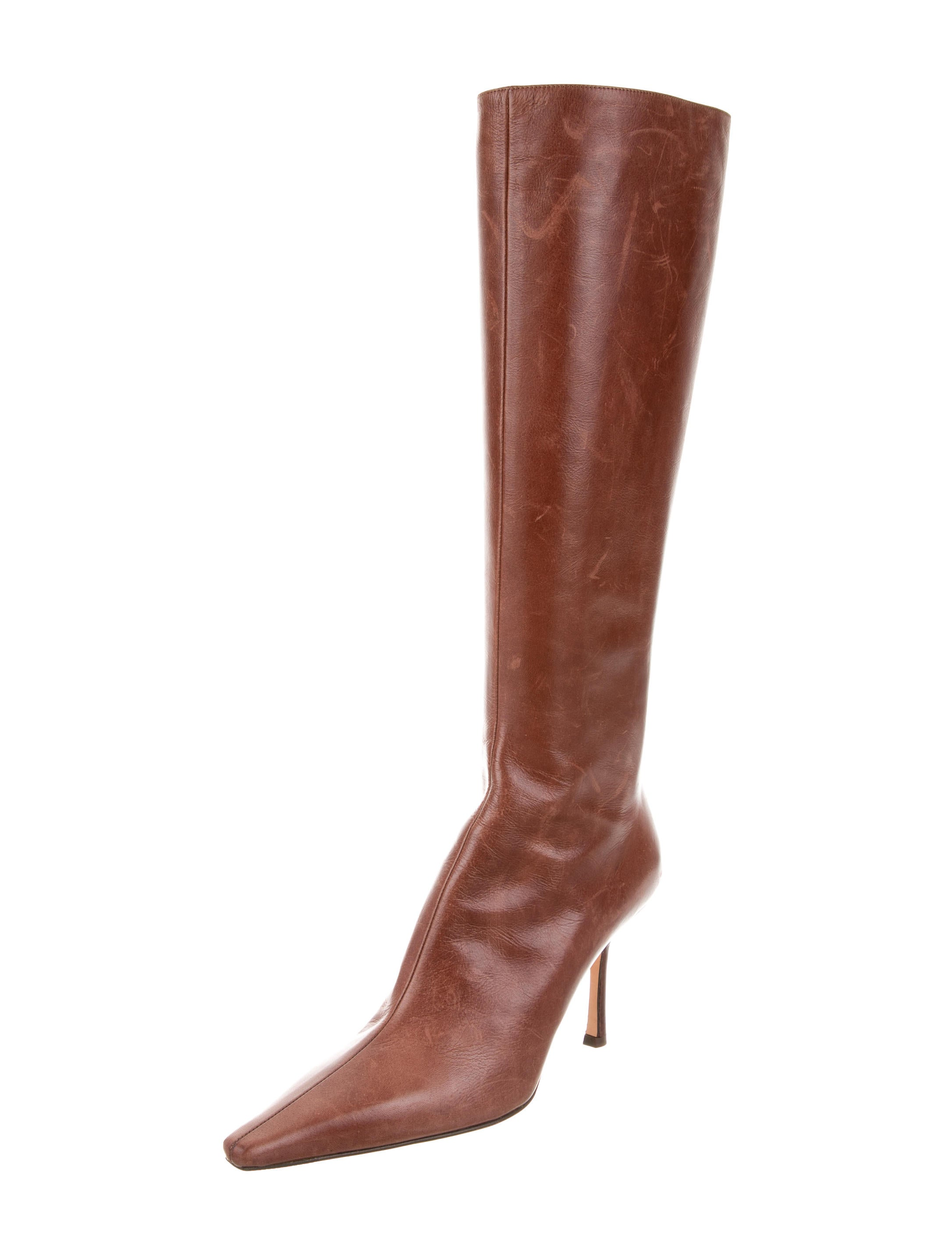 jimmy choo pointed toe knee high boots shoes jim58830
