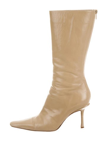 Jimmy Choo Pointed-Toe Leather Boots None