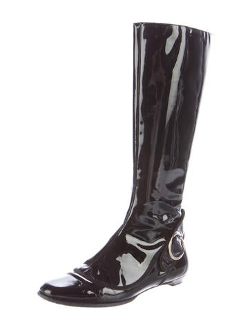 jimmy choo patent leather knee high boots shoes