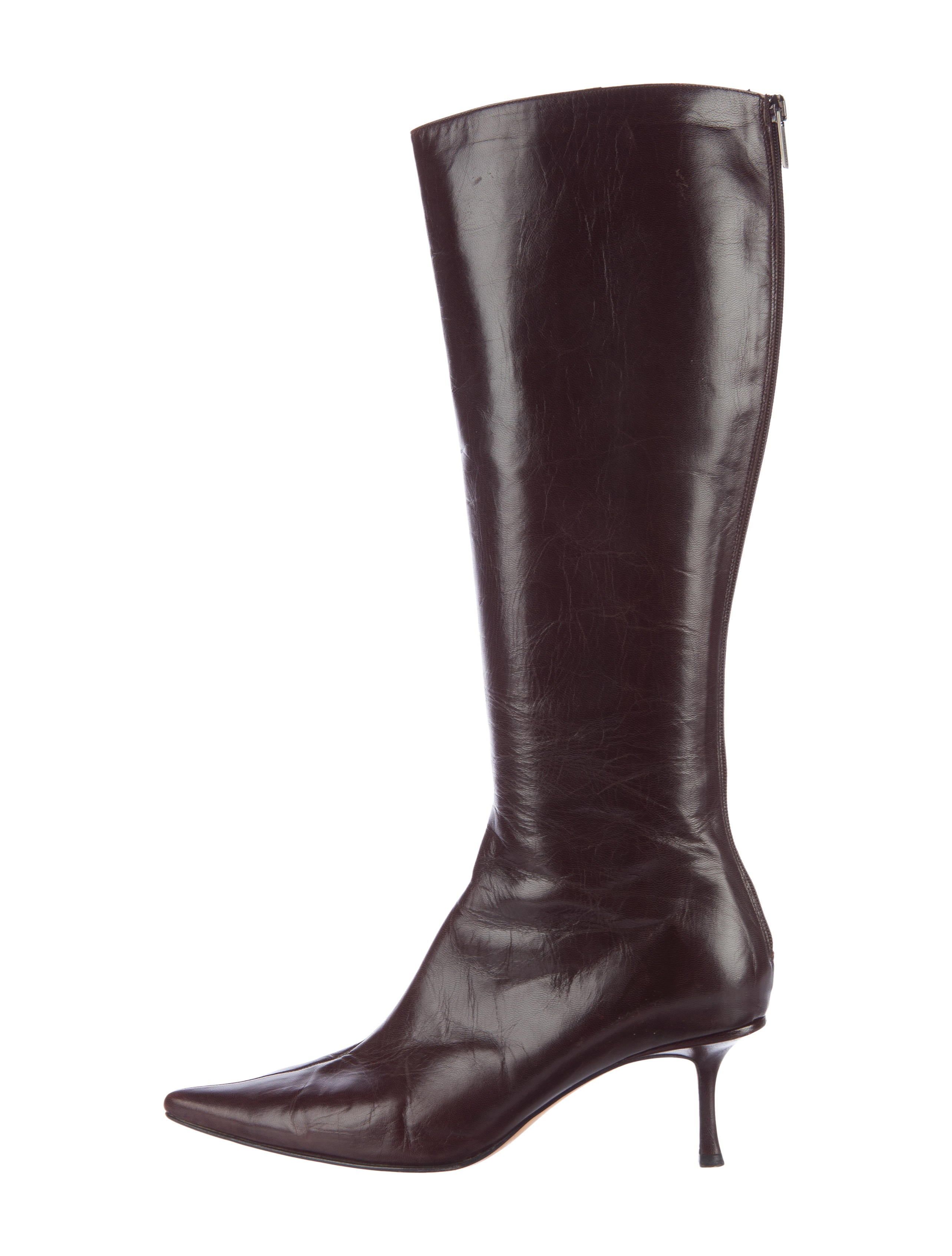 jimmy choo pointed toe knee high boots shoes jim60182