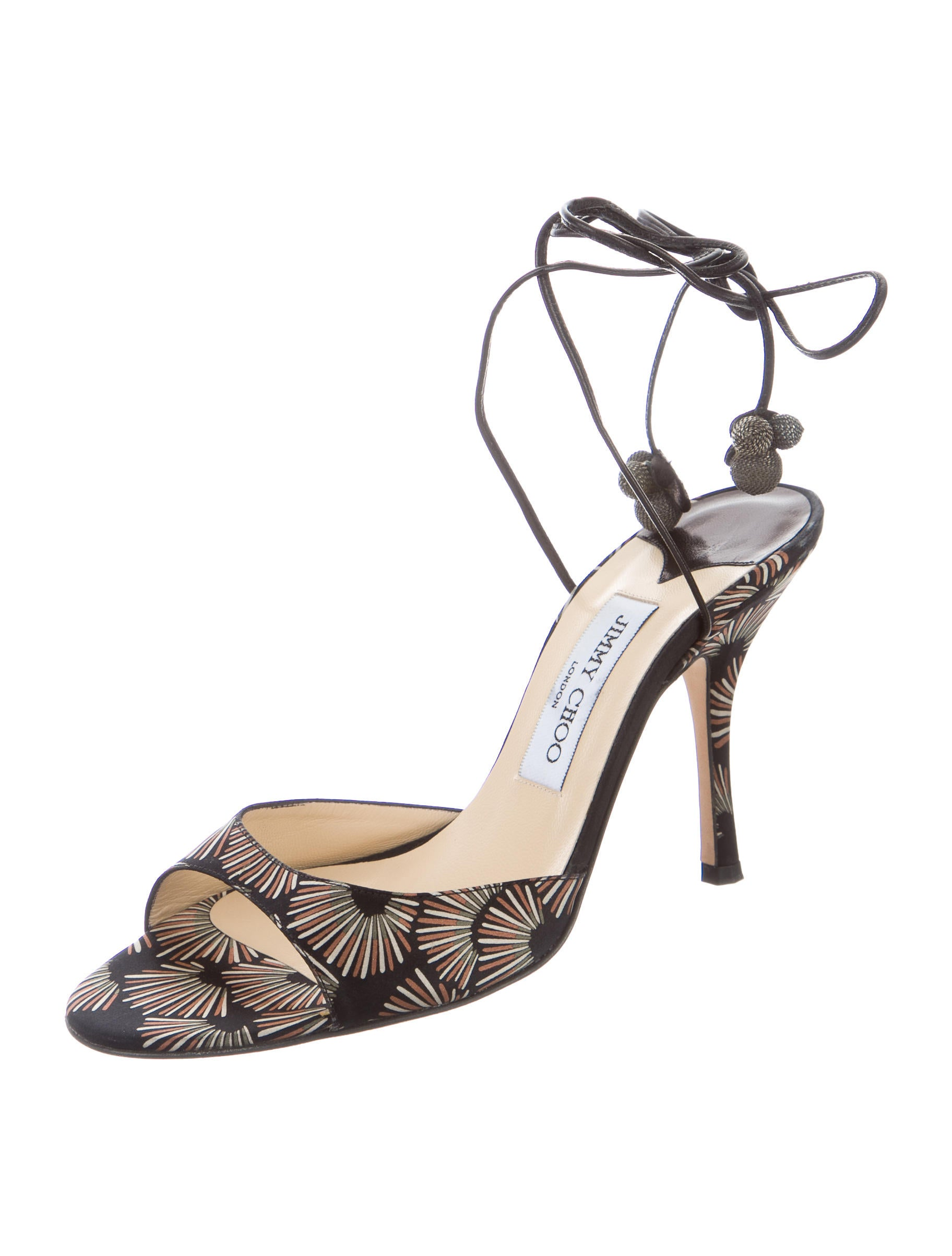 Jimmy Choo Satin Lace-Up Sandals - Shoes - JIM60346 | The ...