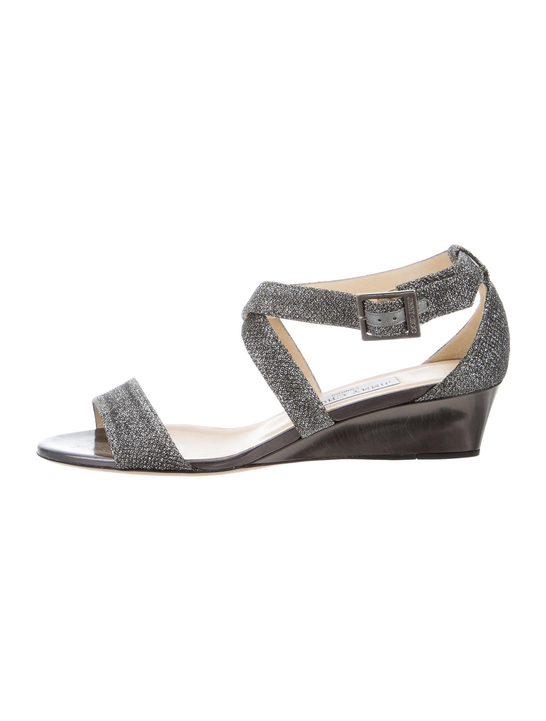 jimmy choo glitter wedge sandals shoes jim60497 the