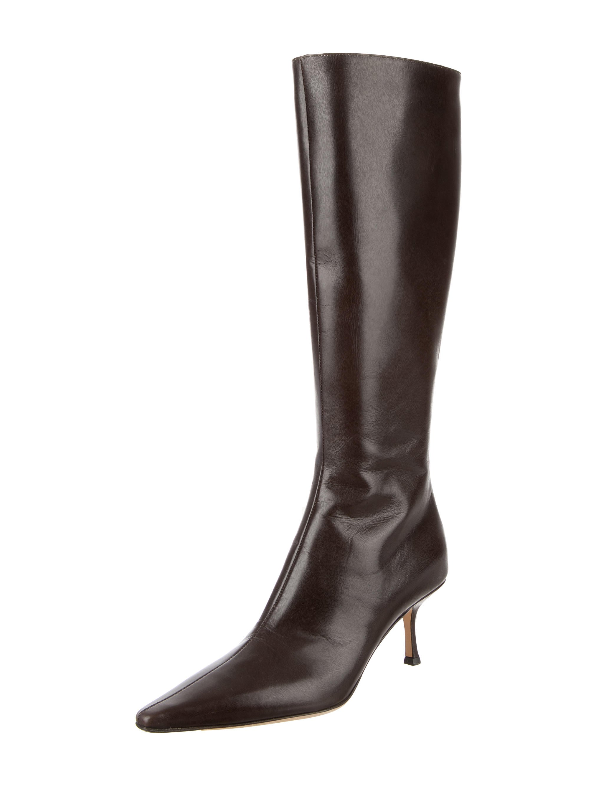 jimmy choo pointed toe knee high boots shoes jim60546