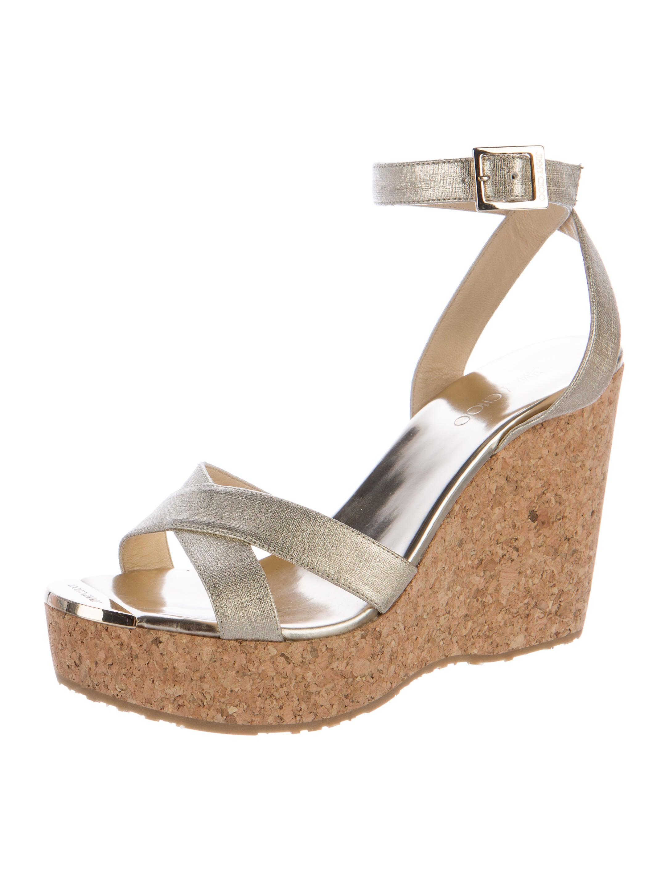 jimmy choo metallic wedge sandals shoes jim60554 the
